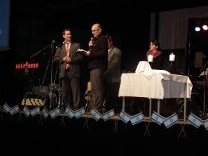 Shabbateingang mit David Nekrutman und Johannes Gerloff übersetzt.